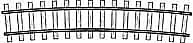 Gebogenes Gleis R 520 mm 12°