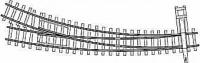 Bogenweiche rechts R 660/380 mm